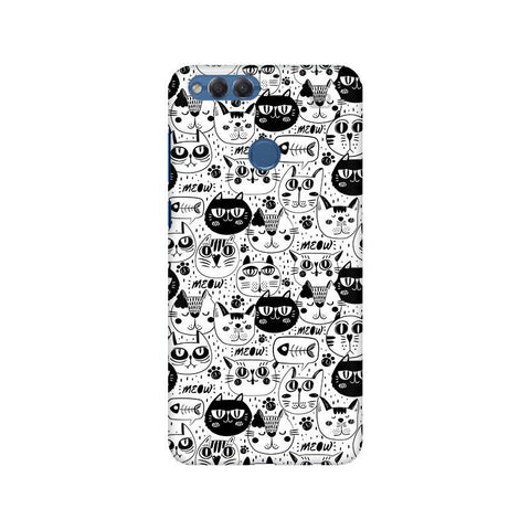 Cute Cats Pattern Huawei Honor 7X Phone Cover