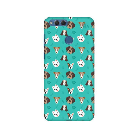 Doggie Pattern Huawei Honor 7X Phone Cover