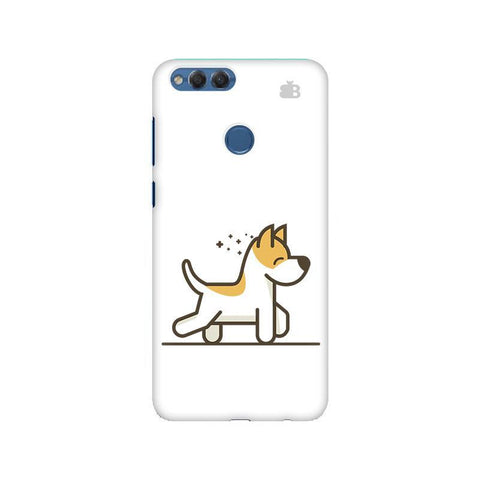 Happy Puppy Huawei Honor 7X Phone Cover