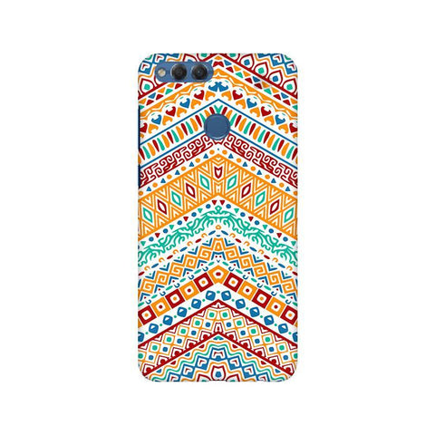 Wavy Ethnic Art Huawei Honor 7X Phone Cover