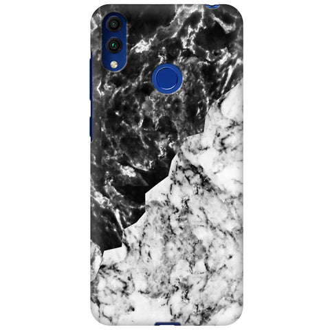 Black White Marble Huawei Honor 8C Cover