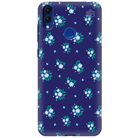 Blue Floral Pattern Huawei Honor 8C Cover