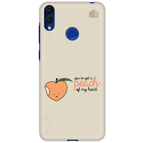 Peach of my heart Huawei Honor 8C Cover