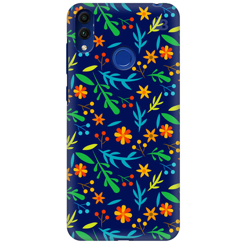 Vibrant Floral Pattern Huawei Honor 8C Cover