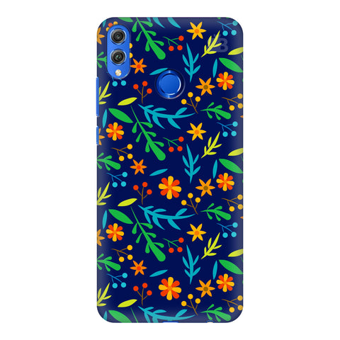 Vibrant Floral Pattern Huawei Honor 8X Cover