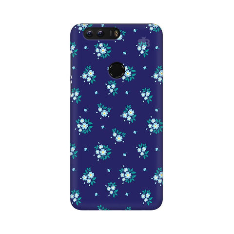 Blue Floral Pattern Huawei Honor 8 Phone Cover