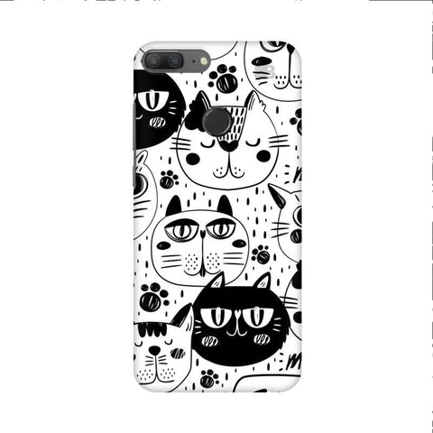 Cute Cats Pattern Huawei Honor 9 Lite Phone Cover