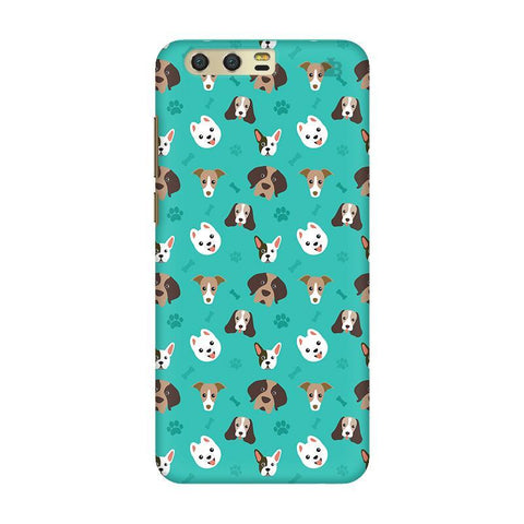 Doggie Pattern Huawei Honor 9 Phone Cover