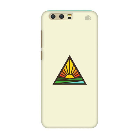 Triangular Sun Huawei Honor 9 Phone Cover