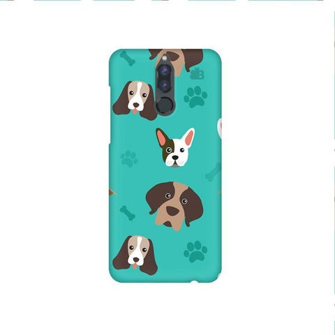 Doggie Pattern Huawei Honor 9i Phone Cover