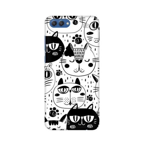 Cute Cats Pattern Huawei Honor V10 Phone Cover