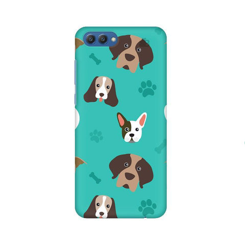 Doggie Pattern Huawei Honor V10 Phone Cover