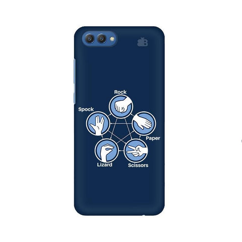 Rock Paper Scissors Huawei Honor V10 Phone Cover