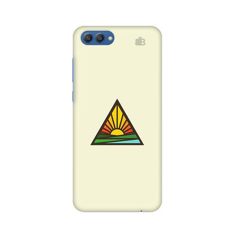 Triangular Sun Huawei Honor V10 Phone Cover
