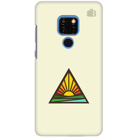 Triangular Sun Huawei Mate 20 Cover
