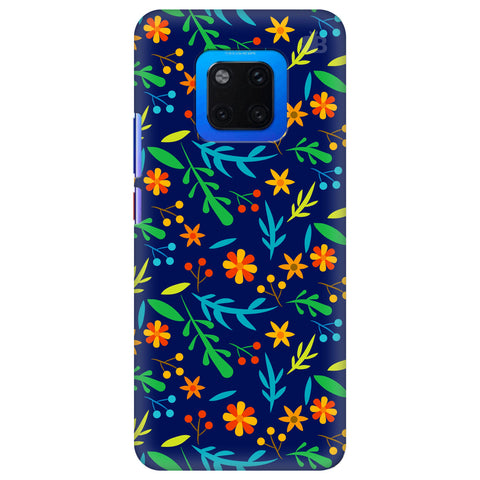 Vibrant Floral Pattern Huawei Mate 20 Pro Cover