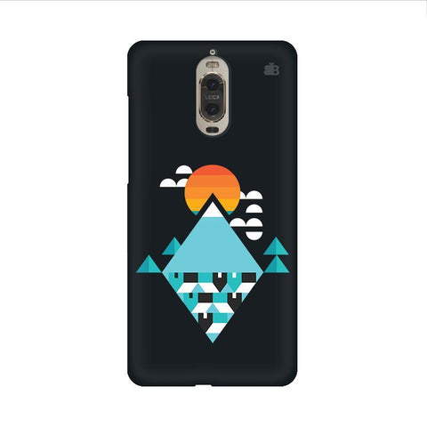Abstract Mountains Huawei Mate 9 Pro Design Phone Cover