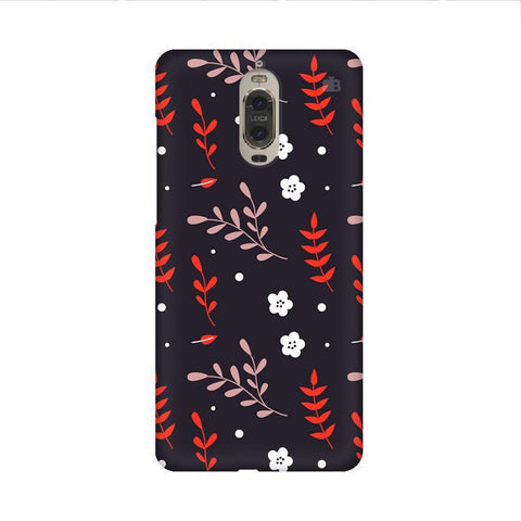 Autumn Floral Pattern Huawei Mate 9 Pro Design Phone Cover