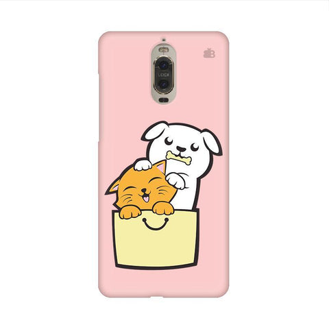 Kitty Puppy Buddies Huawei Mate 9 Pro Design Phone Cover