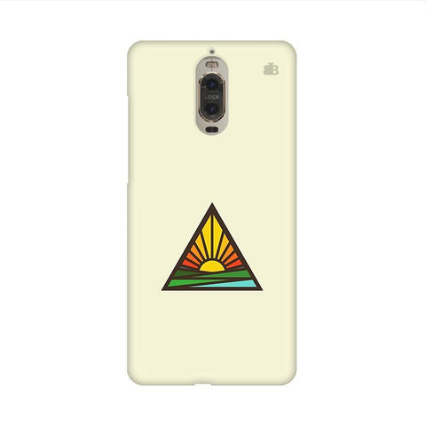 Triangular Sun Huawei Mate 9 Pro Design Phone Cover