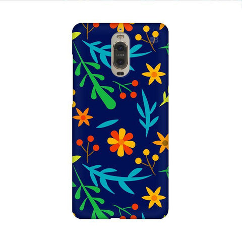 Vibrant Floral Pattern Huawei Mate 9 Pro Design Phone Cover