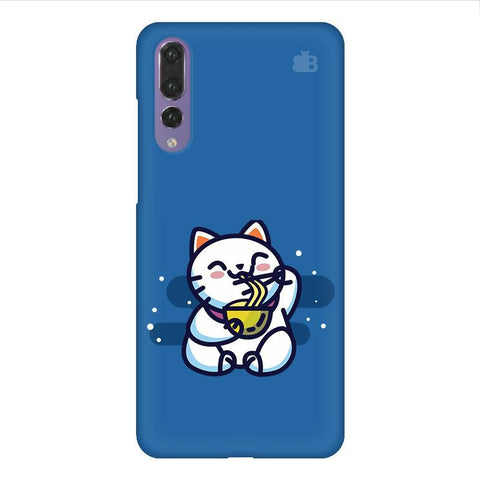 KItty eating Noodles Huawei P20 Design Phone Cover