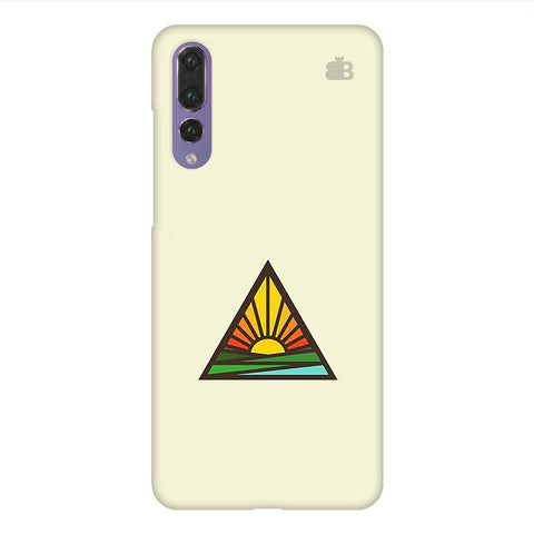 Triangular Sun Huawei P20 Design Phone Cover