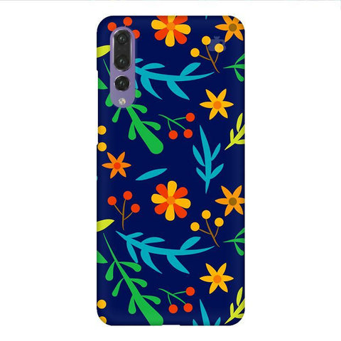 Vibrant Floral Pattern Huawei P20 Design Phone Cover