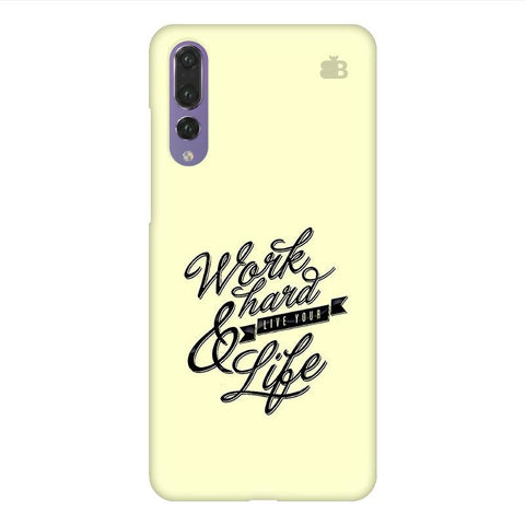 Work Hard Huawei P20 Design Phone Cover