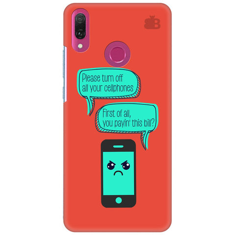 Payin This Bill Huawei Y9 2018 Cover