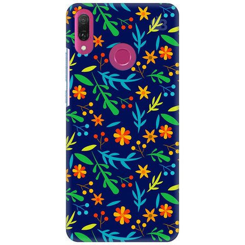 Vibrant Floral Pattern Huawei Y9 2018 Cover