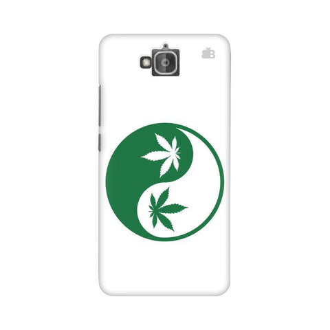 Weed Yin Yang Huwaei Honor Holly 2 Plus Phone Cover