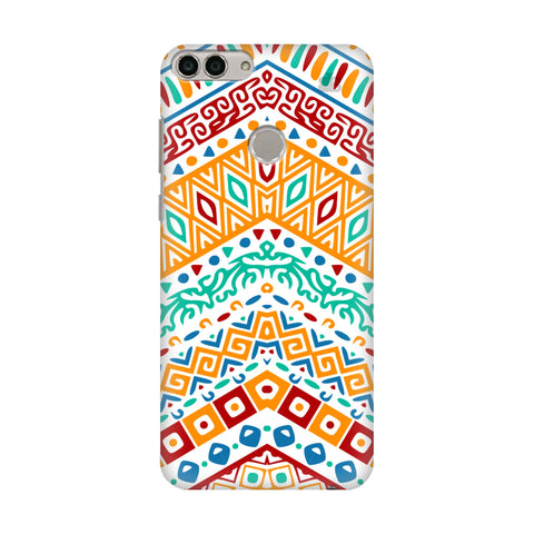 Wavy Ethnic Art Huawei Enjoy 7S Cover