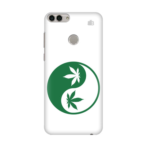 Weed Yin Yang Huawei Enjoy 7S Cover