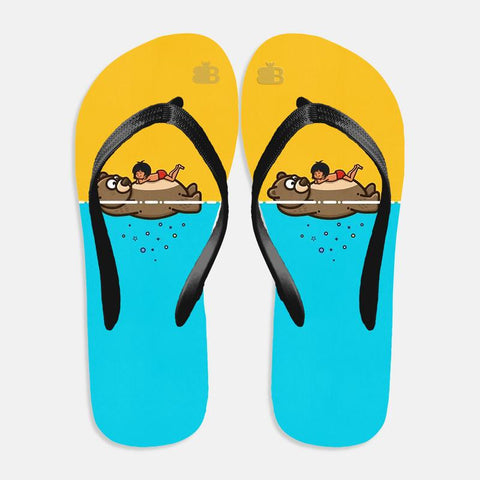 Jungle Friends Flip Flops