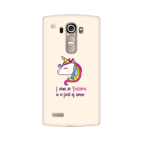 Unicorn in Horses LG G4 Phone Cover