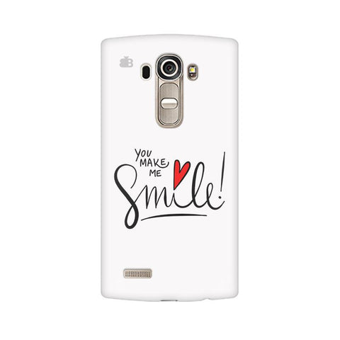 You make me Smile LG G4 Phone Cover