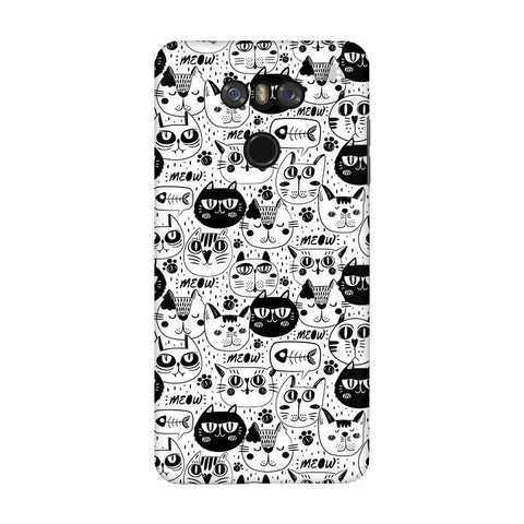 Cute Cats Pattern LG G6 Phone Cover