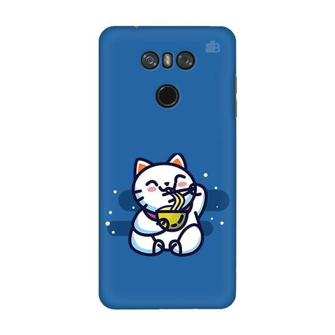 KItty eating Noodles LG G6 Phone Cover