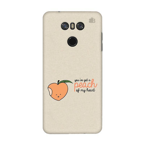 Peach of my heart LG G6 Phone Cover