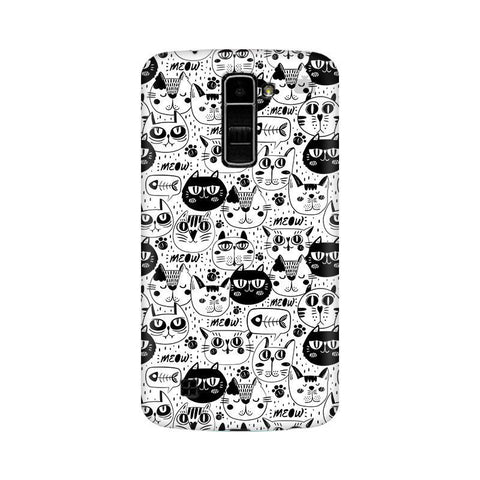 Cute Cats Pattern LG K7 Phone Cover