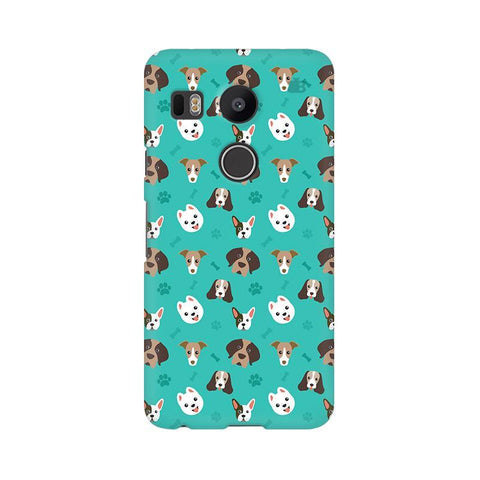 Doggie Pattern LG Nexus 5X Phone Cover