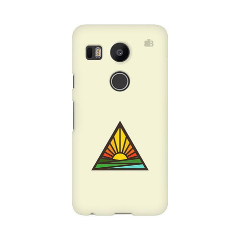 Triangular Sun LG Nexus 5X Phone Cover