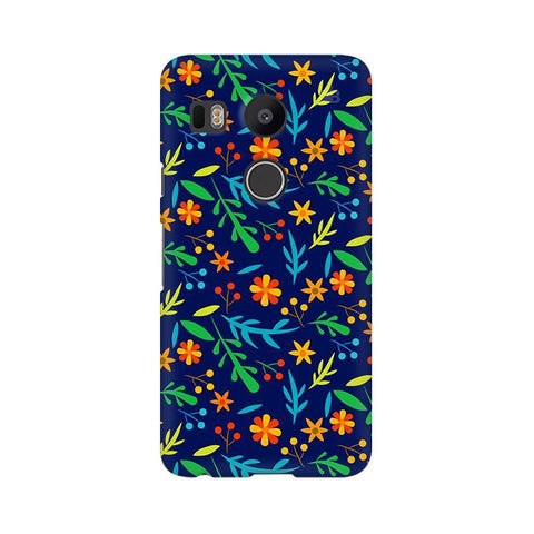 Vibrant Floral Pattern LG Nexus 5X Phone Cover