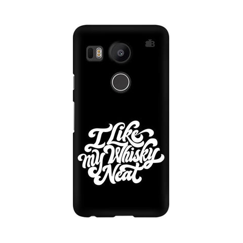 Whiskey Neat LG Nexus 5X Phone Cover