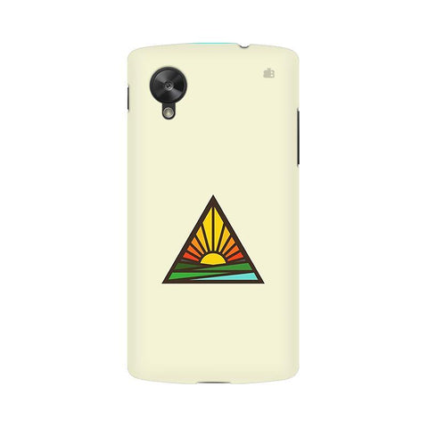 Triangular Sun LG Nexus 5 Phone Cover
