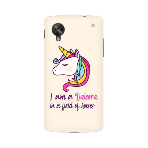 Unicorn in Horses LG Nexus 5 Phone Cover