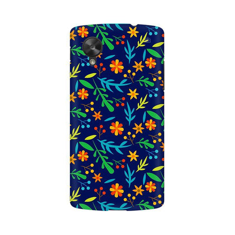 Vibrant Floral Pattern LG Nexus 5 Phone Cover