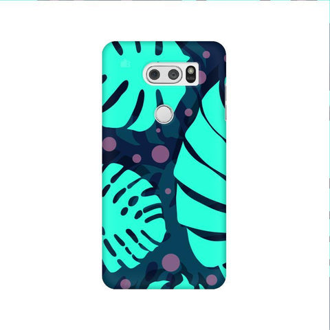 Tropical Leaves Pattern LG V30 Phone Cover