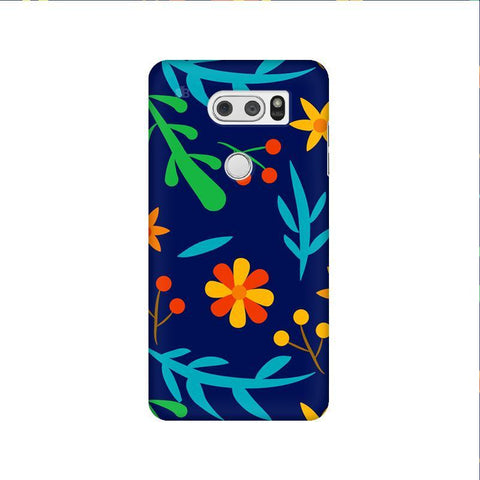 Vibrant Floral Pattern LG V30 Phone Cover